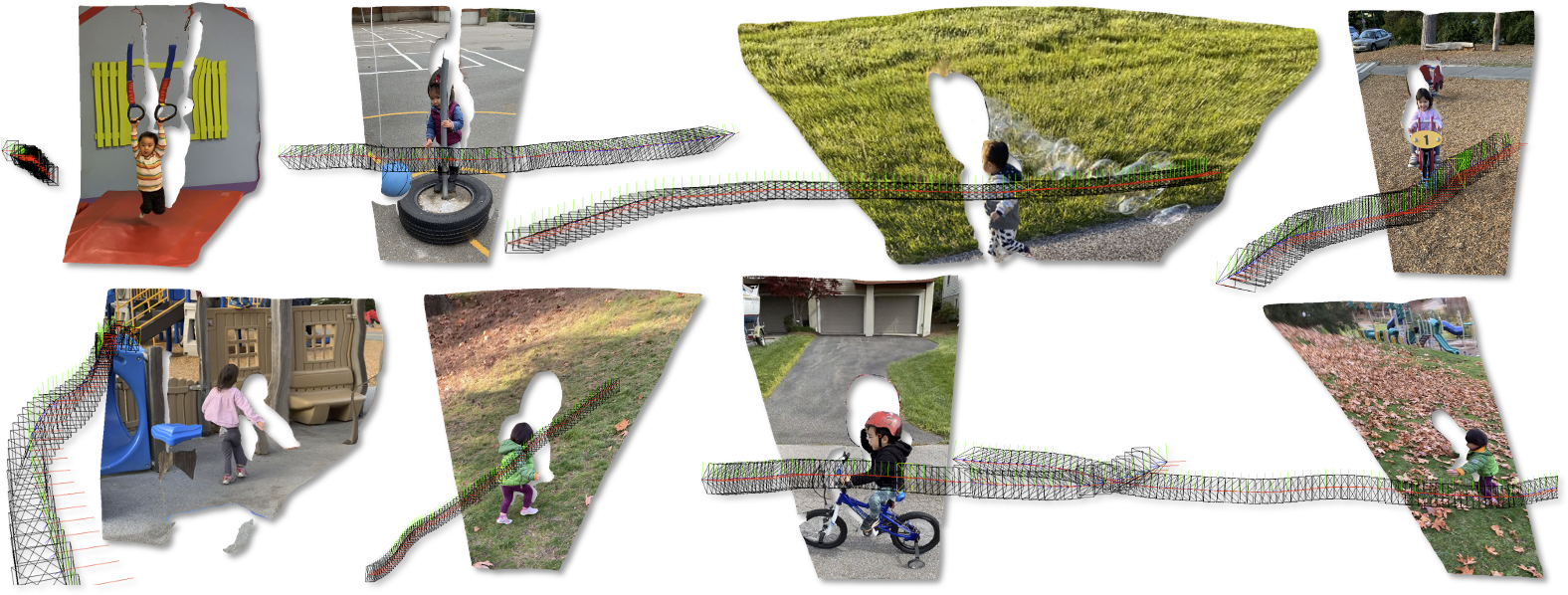 We present an algorithm for estimating consistent dense depth maps and camera poses from a monocular video. We           integrate a learni